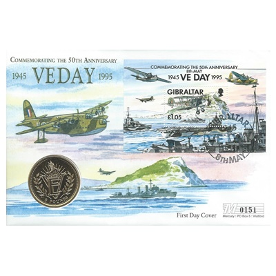 1995 5 Pounds - VE Day 1945-1995